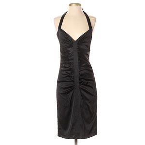 BCBG Black ruched cocktail dress size 4